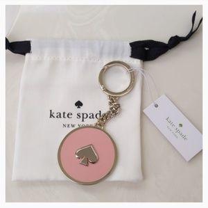 NWT Kate Spade Enamel Spade Keychain Fob Bag Charm